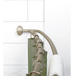 Zenna Home™ NeverRust Satin Nickel Double Curved Showe