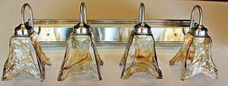 new 4 light brushed nickel vanity bathroom