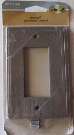 New Hampton Bay Pearson Wall Plate Switch Cover Brushed Nick