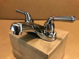 "NEW BRUSHED NICKEL FINISH 4"" TEAPOT FAUCET PLASTIC RV MOTORH"