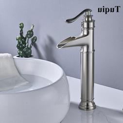 New <font><b>nickel</b></font> waterfall <font><b>faucet</b>