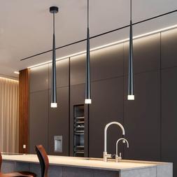 Nordic led chandelier long downlight Kitchen Restaurant <fon