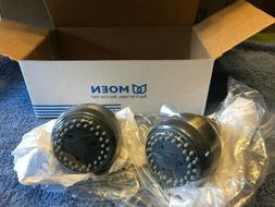 NOS Moen Shower Heads-Pair-Brushed Nickel Finish-2.0 GPM