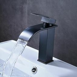 BWE Waterfall Oil Rubbed Bronze Bathroom Basin Faucet Sink M