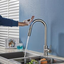 Oil Rubbed Bronze Kitchen Sink Faucet LED Light Pull Down Sp