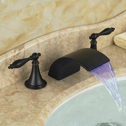 Single Handle Waterfall Bathroom Basin Vanity Sink Faucet  B
