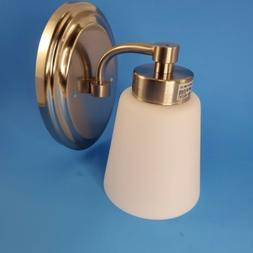 Wisebeam One Light Bathroom Wall  Fixtures Brushed Nickel wi