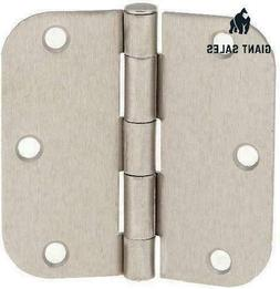 "Tempo Satin Nickel 3.5"" X 3.5"" Door Hinges With 5/8"" Radius"