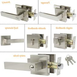 Privacy Passage Door Levers Brushed Nickel Entry Locksets Ha