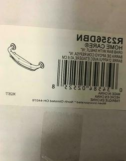 """Moen R2356DBN Home Care 16"""" Inch Grab Bar w Shelf In Brushed"""