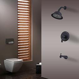Retro Wall Mounted Rainfall Shower Faucet Head Set Tub Trim