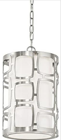 sabine brushed nickel modern cylinder pendant light