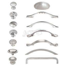 Satin Nickel / Brushed Nickel Kitchen Cabinet Drawer Pull Ha