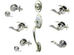 Satin Nickel door knob lever entry privacy passage Locks dea