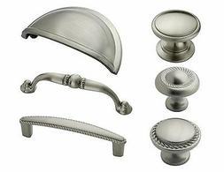 Amerock Satin Nickel Rope Cabinet Hardware Knobs & Pulls