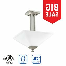 IN HOME SEMI-FLUSH MOUNT Ceiling 3 Light Brushed Nickel with