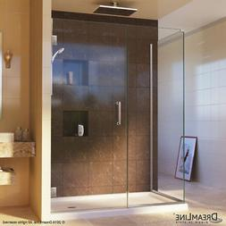 DreamLine SHEN-24415300-04 Brushed Nickel With Clear Glass,