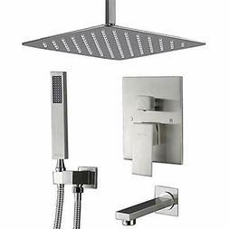 Shower Bathtub & Systems System, Brushed Nickel Ceiling Tub
