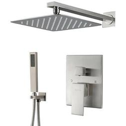 Shower Faucet System Set Brushed Nickel 8 inch Rainfall Show
