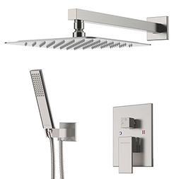 EMBATHER Shower System- Brushed Nickel Shower Faucet Set for