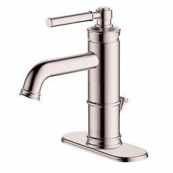 Hansgrohe Status Lavatory Faucet, Drip-Free Ceramic Disk, Br