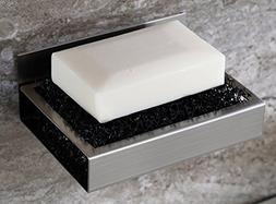 New Soap Dish Holder Brushed Nickel Wall Mount Bathroom Disp