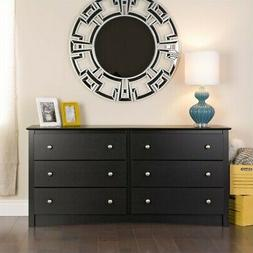 Prepac Sonoma Black 6 Drawer Double Dresser