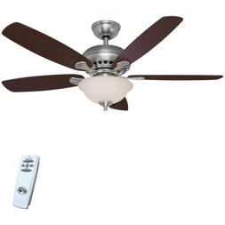 Southwind 52 in. LED Indoor Brushed Nickel Ceiling Fan with