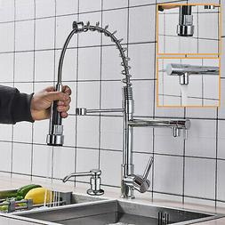 Spring Chrome Industrial Kitchen Bar Sink Faucet Pull Out Sp