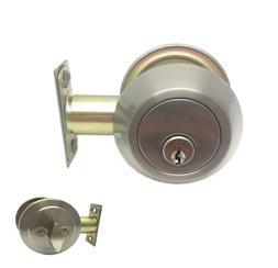 Stainless Steel Deadbolt Single Cylinder Brushed Nickel