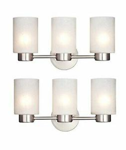 Sylvestre 3-Light Interior Wall Fixture,Frosted Seeded Glass