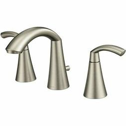 Moen T6173BN Glyde Two-Handle High Arc Bathroom Faucet, Brus