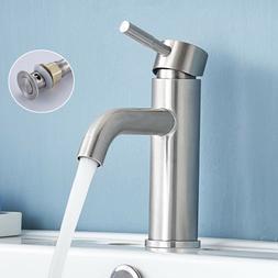 Bathroom Basin Sink Faucet Waterfall Single Handle Brushed N