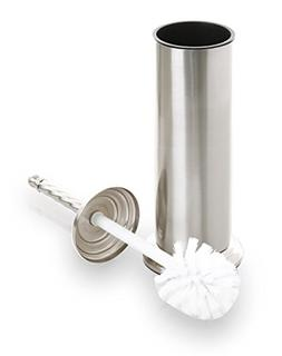 BINO Toilet Brush & Holder with Removable Drip Cup, Brushed
