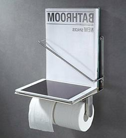 Toilet Paper Holder with Magazine Rack, Suyar SUS304 Stainle