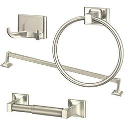 4 Piece Towel Bar Set Bath Accessories Bathroom Hardware - B