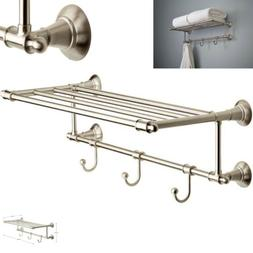 Delta 24 In. Train Rack With 3 Hooks In Satin Nickel Bathroo