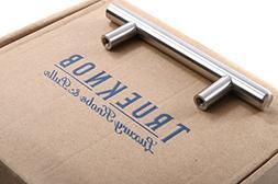 TrueKnob SOLID Stainless Steel Cabinet Pull Hardware | Brus