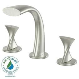 "Ultra Twist 8"" Widespread Bathroom Faucet-Brushed Nickel 157"