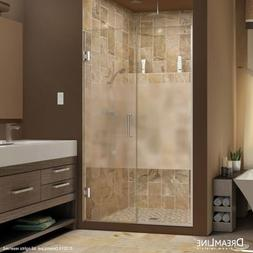 DreamLine Unidoor Plus 59 1/2-60 in. Width, Frameless Hinged
