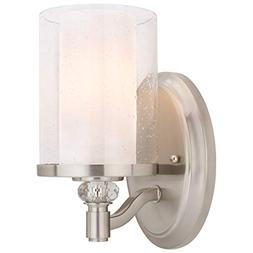 """Kira Home Victoria 10"""" Transitional Wall Sconce, Frosted Gla"""