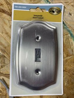 Hampton Bay Vineyard 1 Toggle Wall Plate - Brushed Nickel St