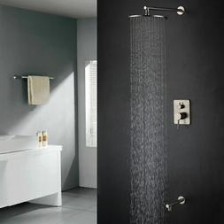 Wall-Mount Bath Round Rain Spray Shower Head & Bathtub Fille