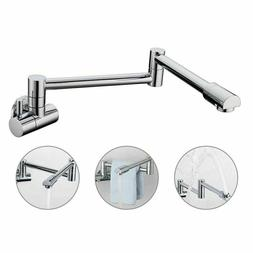 Wall Mount Pot Filler Kitchen Faucet Fold Swing Arm Single C