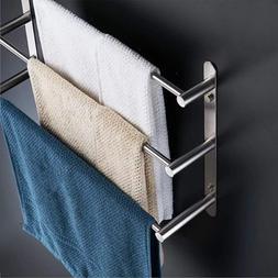 Wall-mounted 304 stainless steel towel <font><b>bar</b></fon