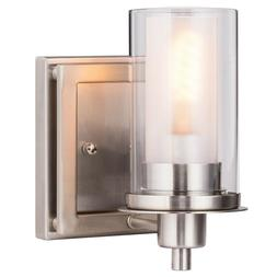 Wall Mounted One Light Brushed Nickel Bulb Vanity Light Mode