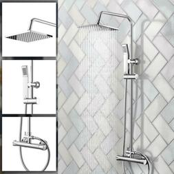 wall mounted rainfall shower faucet 8 brushed