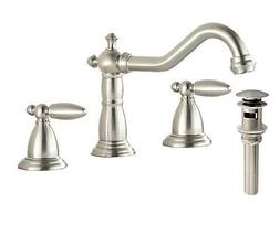 Waterfall Spout Brushed Nickel Bathroom Faucet Tub Sink Mixe