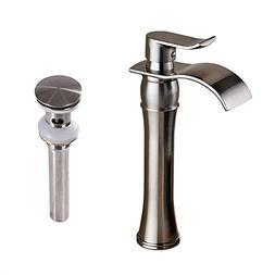 Votamuta Waterfall Spout Single Handle Bathroom Sink Vessel