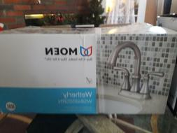 Moen Wetherly Brushed Nickel 2-Handle 4-in Bathroom Faucet H